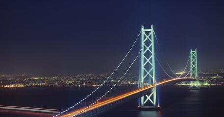 The Akashi Kaikyo Bridge is one of the greatest engineering feats.