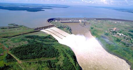 The Itaipu Dam in South America is one of the Seven Wonders of the Modern World.