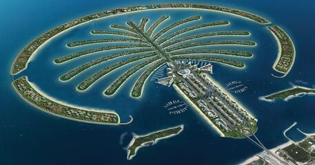 Palm Islands in Dubai, UAE, is among the world's top engineering feats.